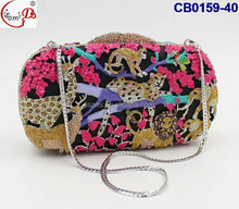 Colorful Animal Shoulder Bags Flowers Evening Clutch Bag For Customized Crystal Handbag CB0159