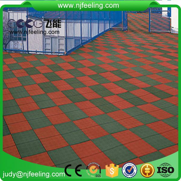 Anti-Skid Puzzle Anti Slip Rubber Outdoor Playground Tiles Flooring Tile