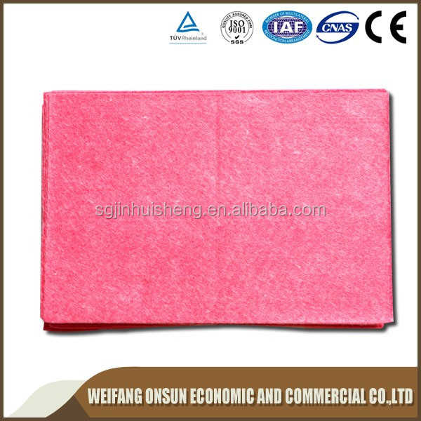 Viscose / polyester needle punched nonwoven fabric super water and oil absorbent kitchen wipe cloth