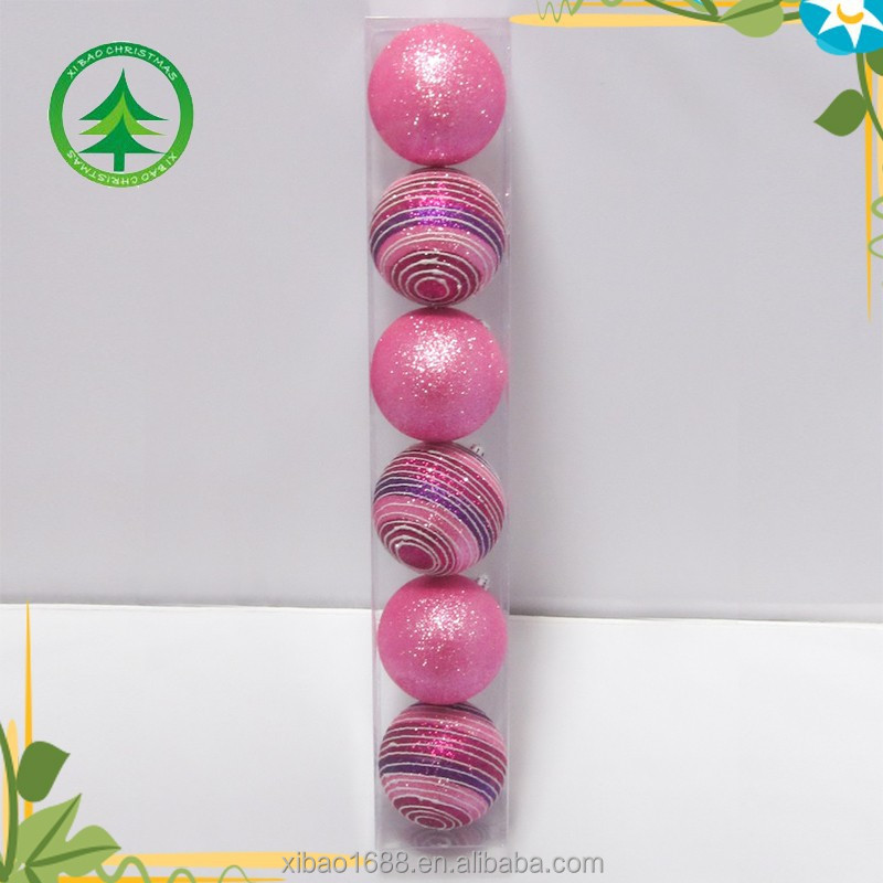 Wholesale manufacture christmas ball, plastic chrismtas ball decoration