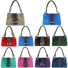 E1404 - Miss Lulu New Style Fashion Suede Double Strap colorful choice smart Handbag with Good Price
