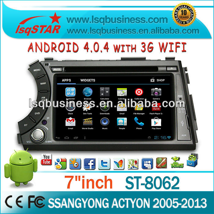 LSQ Star Android 4.0 Car Audio For Ssangyong Korando Gps Radio With Canbus/ipod/bt/wifi Drive Your Life!