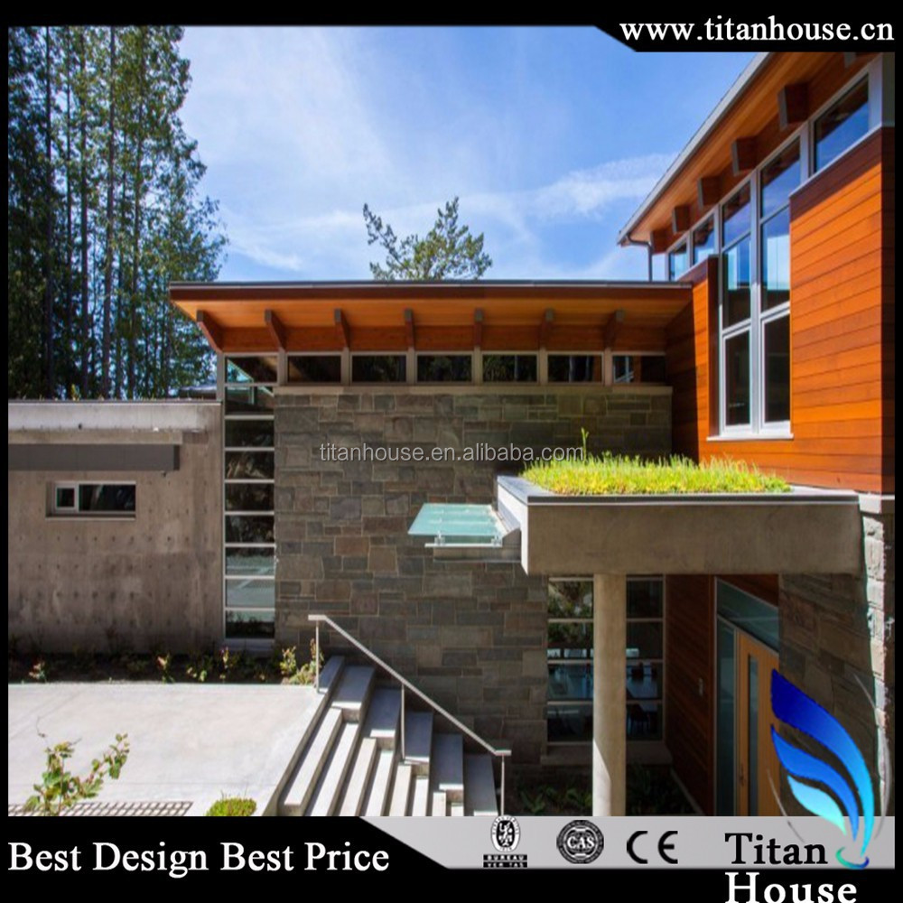 Modern and free design framecad light weight steel framing houses with 3d models