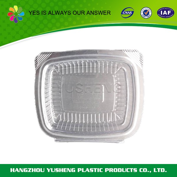 Cheap promotional clear round plastic food container with lid