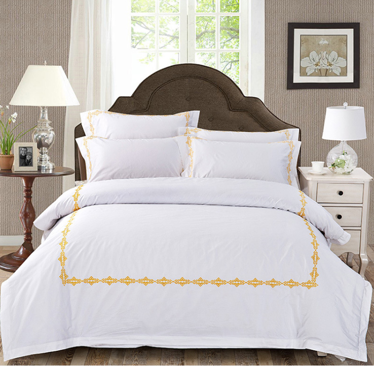 factory supply white hotel bed sheet set luxury 5 star hotel bedding linen