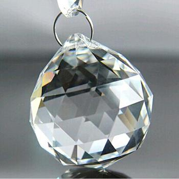 30mm Colorful Faceted Cut Small Crystal Chandelier Ball For Parts Curtain
