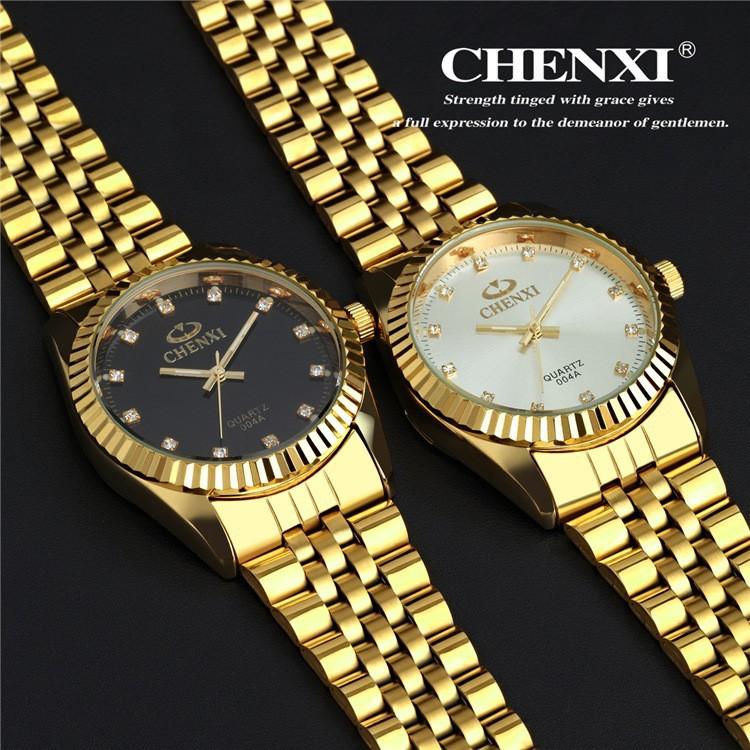 Golden New Clock gold Fashion Men watch full gold ...