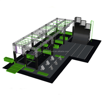 high quality multifunctional customized ninja warrior obstacles course trampoline park