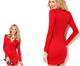 Fashion western design sexy dresses long sleeve ladies woman v-neck dress