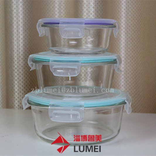 Glass Food Storage Container Set - BPA Free - Use for Home, Kitchen and Restaurant