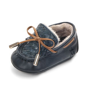New keep warm leather baby boy shoes