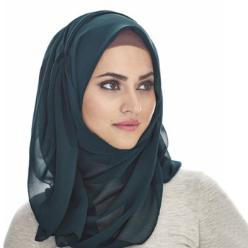 Hot cheap fashion solid color head scarf women chiffon muslim hijab head scarf dupatta