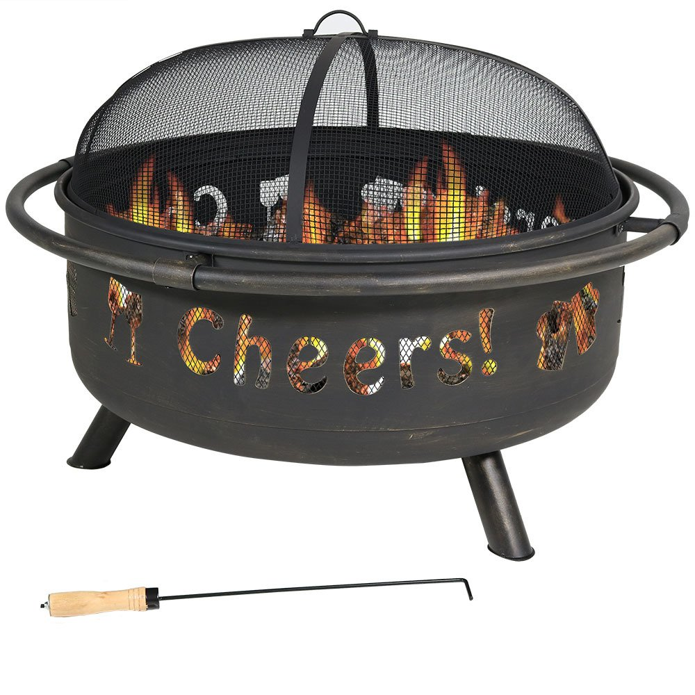 Get Quotations · Sunnydaze 36 Inch Cheers Large Fire Pit with Brushed Metal  Finish and Spark Screen - Cheap Whalen Fire Pit, Find Whalen Fire Pit Deals On Line At Alibaba.com