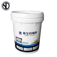 Round tinplate White 5 gallon 20 liter chemical plastic paint round bucket pail