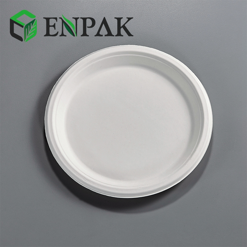 Food Grade Cheap White composable serving tray dishes