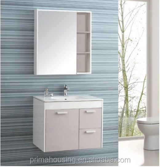 Fashional bathroom luxury cbainet , pink bathroom vanity, wash sink with cabinet