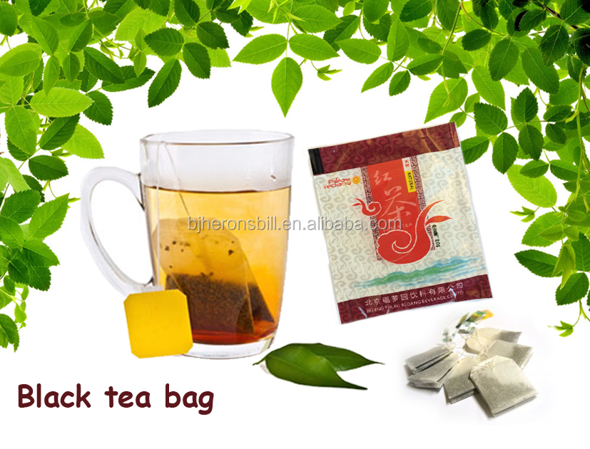 black tea bagged with ISO
