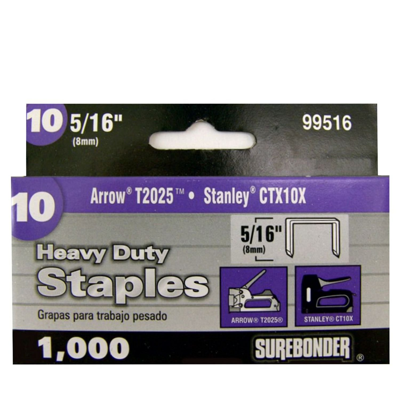 Surebonder 33516 Arrow P22 Type Light Duty 5//16-Inch Leg Length 1000 Count .476-Inch Crown Staple