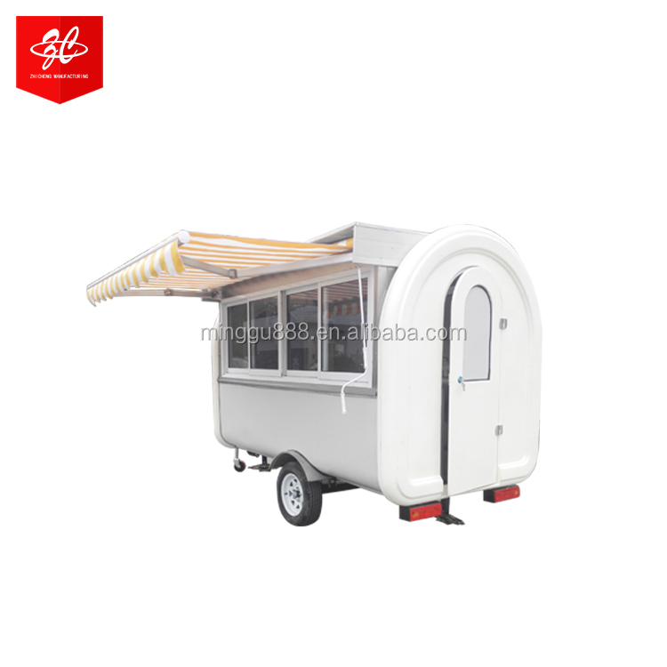 Shanghai zhicheng chinese food truck mobiele vending kar, goedkope concessie kar, fabricant food truck