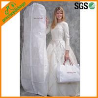 China wholesale OEM clear wedding dress dust cover garment bag