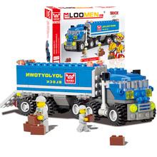 J302 New Arrival 163pcs Transport Dumper Truck Model Building Blocks Can Build 8 Shapes Educational Toys Kids Gifts Wholesale