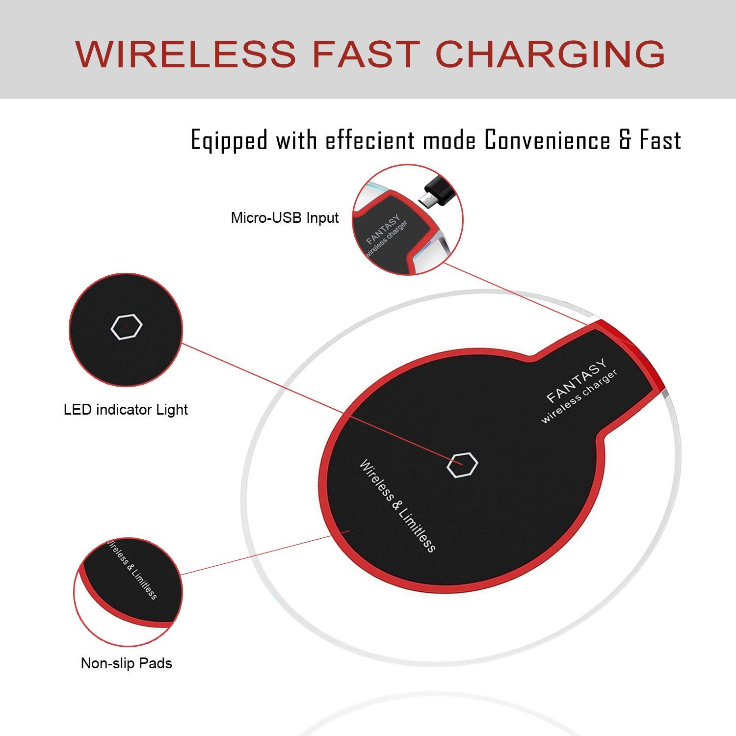 High quality cell phone mini qi mobile wireless charger for iphone