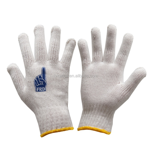 Wholesale Working Cotton Knitted Protective Hand Safety Gloves