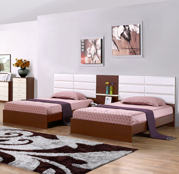 Modern Wooden Single Bed Designs Cheap Apartment Bedroom Furniture