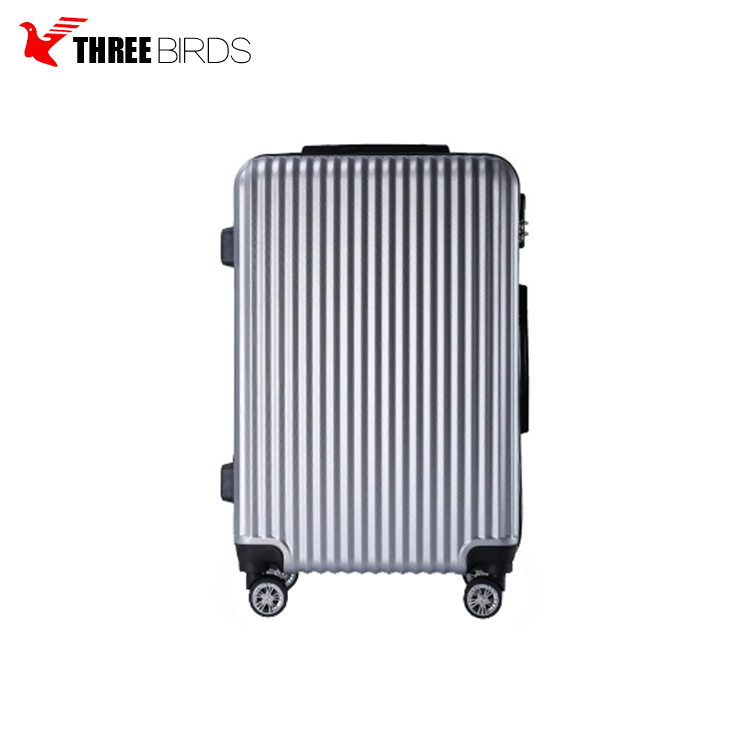 Baigou china 20/24 inch ABS PC luggage top quality luggage carry hard shell trolley luggage