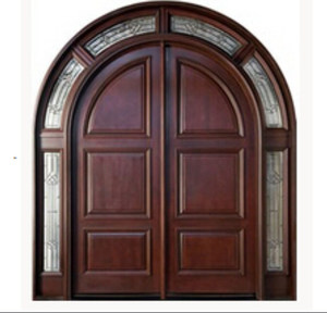 High quality solid wooden door for building projects main entrance wooden door