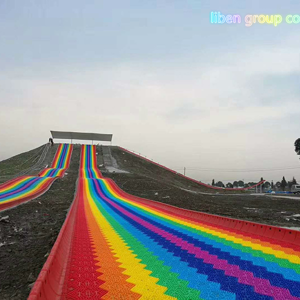 liben rainbow dry snow <strong>slide</strong> for children to have fun