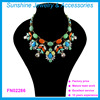 Sunshine Fashion acrylic bead flower statement Necklaces for women 2015