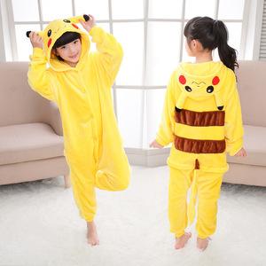 8e4709b00ef3 Top Quality Wholesale Yellow Pikachu Kigurumi Onesie Unisex Sleepwear Soft  Costume Kids Flannel Onesie Pajamas