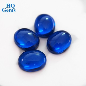 oval cut synthetic spinel beads cabochon blue spinel buy oval cut