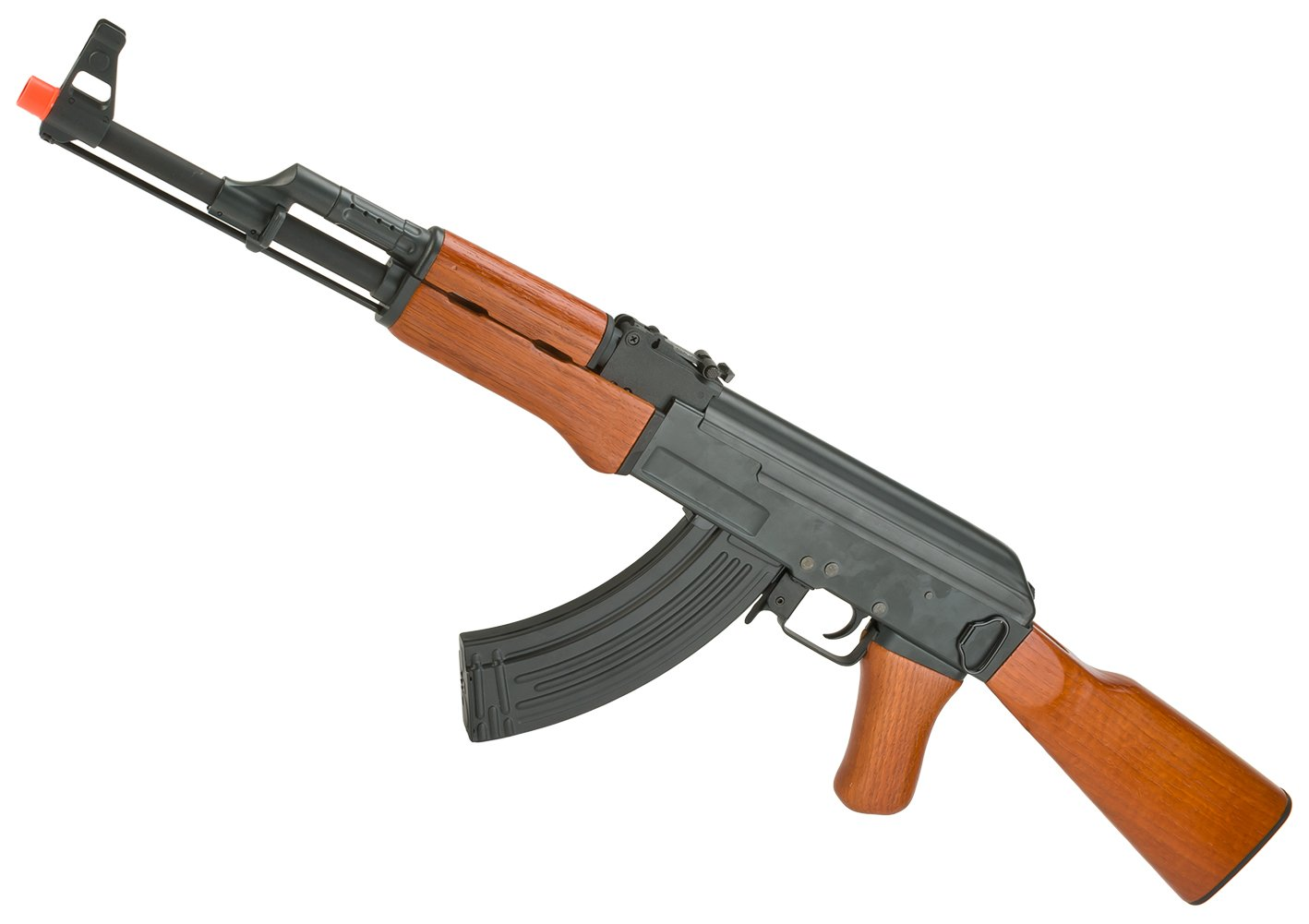 Evike - AK47 Advanced Full Metal Real Wood Airsoft AEG w/ Lipo Ready Gearbox by CYMA / Matrix - (30088)