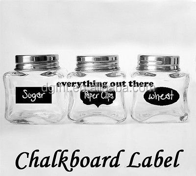 Chalkboard Labels for Mason Jars Self- Adhesive Liquid Chalk Paint Label Paper Stickers