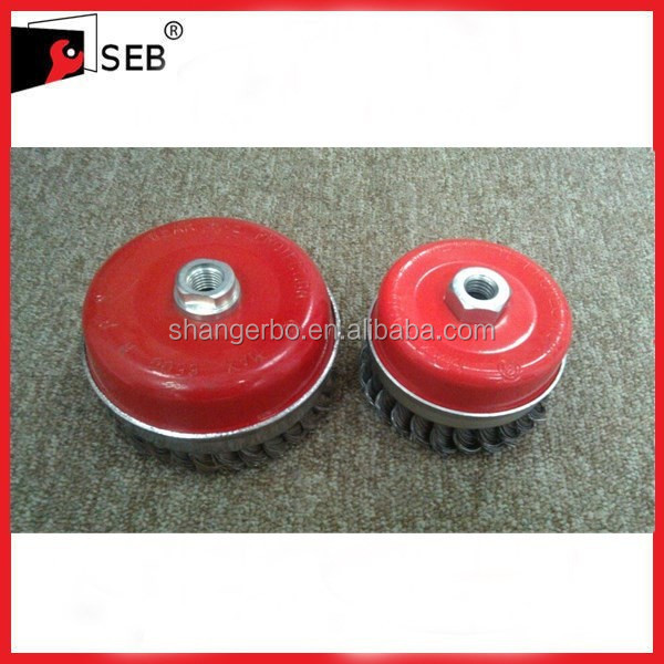 Heavy duty wire Cup Brush for cleaning large rust SEB-WB112016