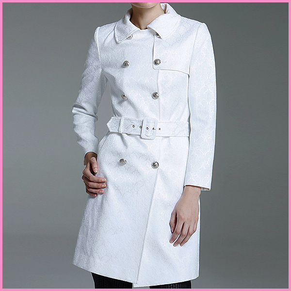 new style fashion embossed wholesale long women winter trench coat