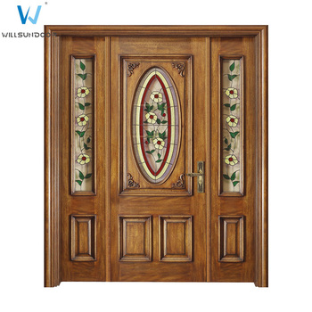 Copper Glazing French Doors Wood Residential Front Doors Front Entry