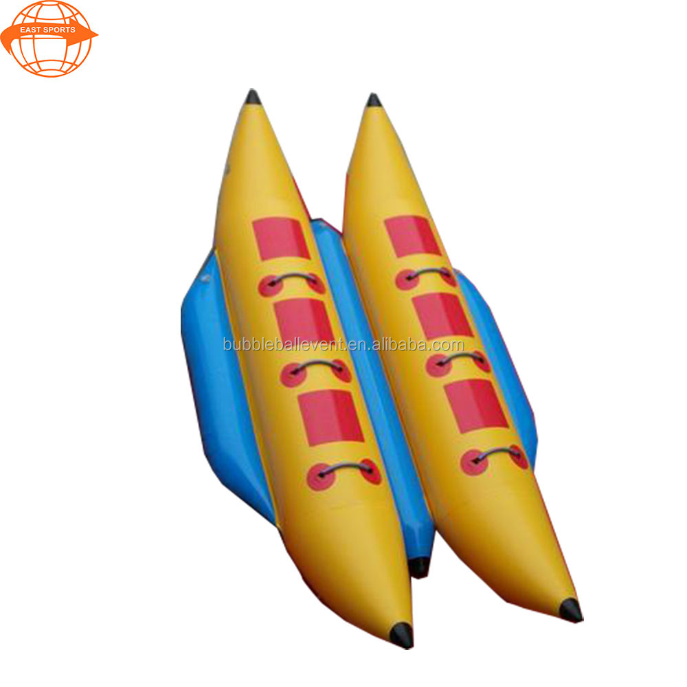 China factory pvc float toy cheap inflatable banana <strong>boat</strong> for surfing for sale