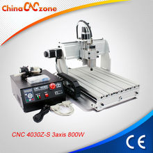 Desktop Mini CNC router with water cooled spindle motor CNC 4030Z-S 3 Axis 800W CE approval