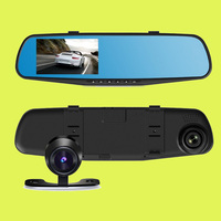 2016 best seller 170 degree HD rearview mirro car dvr 1080p vehicle camera