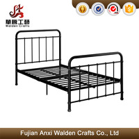 Metal iron bed twin size black