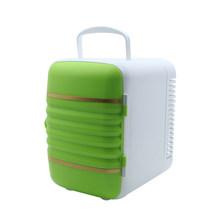 2 в 1 мини портативный холодильник 4L охладитель теплый холодильник для автомобиля Дома Офиса Белый Красный Синий Зеленый 12 В(Китай)