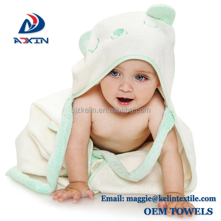 Wholesale baby products 100% bamboo fabric animal hooded baby towel