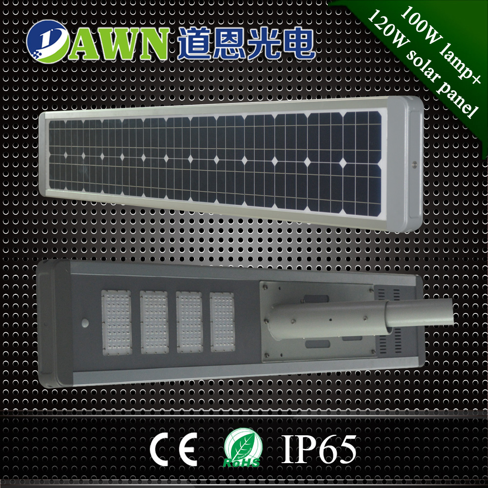 100W 2016 new product high lumen integrated all in one solar led street light lamp solar thermal renewable <strong>energy</strong>