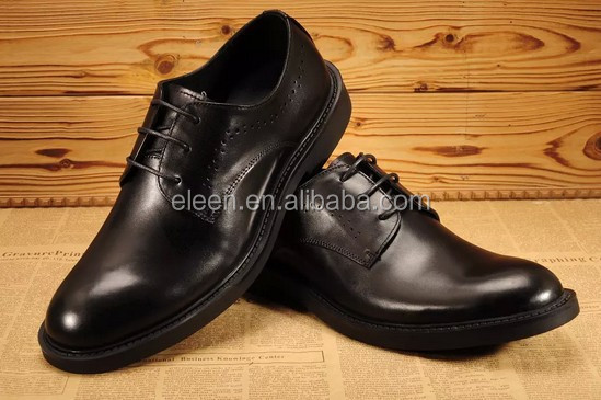 black leather Elegant men genuine dress shoes gffzTdwqxn