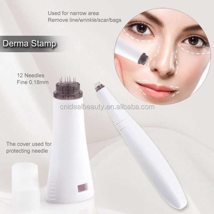 12/300/720/1200 pins micro needle therapy 5 in 1 derma roller (F019G)