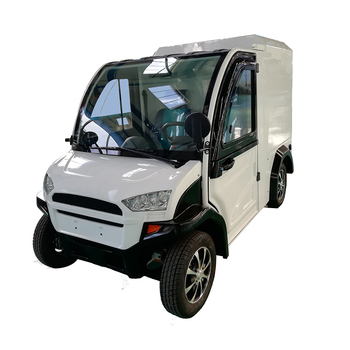 Electric Mini Car Van For Food Delivery With Long Driving Range