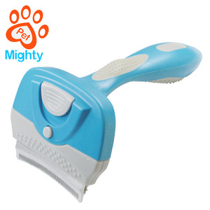 Hot Sale NEW Dog Pets Hair Fur Shedding Handle Grooming Rake Comb Brush Long